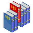 100px Bookshelf Icon (red And Blue).svg