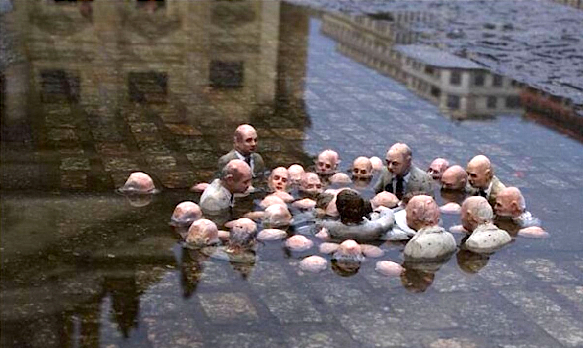 Isaac Cordal Politicians Discussing Climate Change